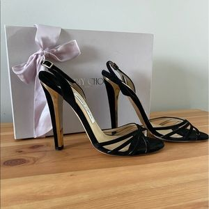 Jimmy Choo Suede Strappy Sandle Size 8